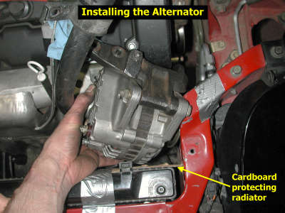 Alternator installation