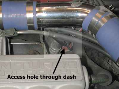 Dash panel access - engine bay driver's side