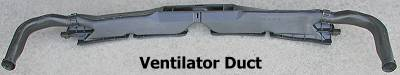 Ventilator duct - back