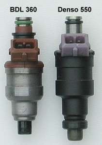 Fuel injectors - side