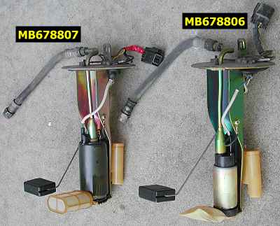 Fuel pump assembly comparison 2