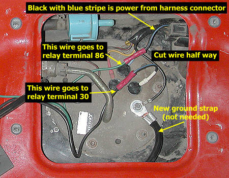 stealth 316  fuel pump rewire
