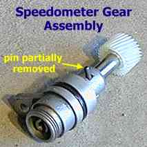 Speedometer gear assembly