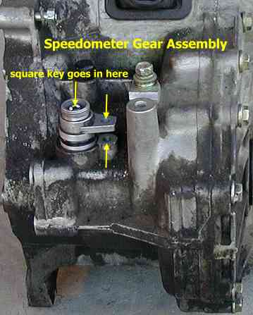 Speedometer gear assembly loosened