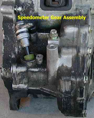 Speedometer gear assembly resting