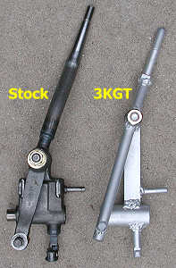 comparison - stock and 3KGT shift levers
