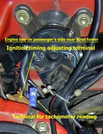 Ignition timing terminal location
